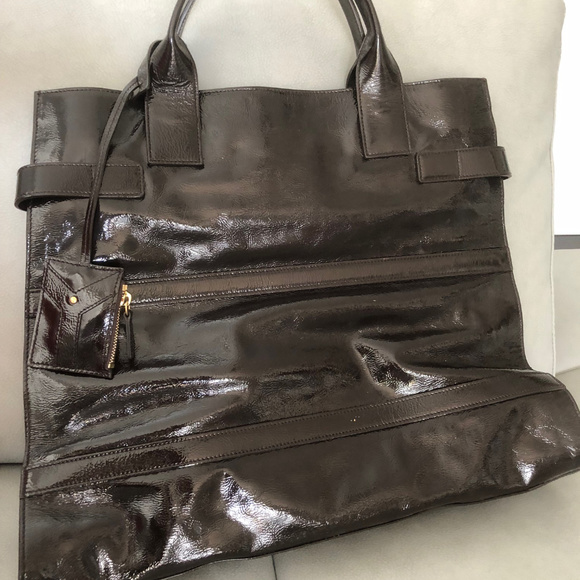 c39c3a9369d Yves Saint Laurent Bags | Ysl Large Patent Leather Tote Bag | Poshmark